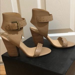 Joe's Vance Latlea Ankle Strap Wedge Block Heels